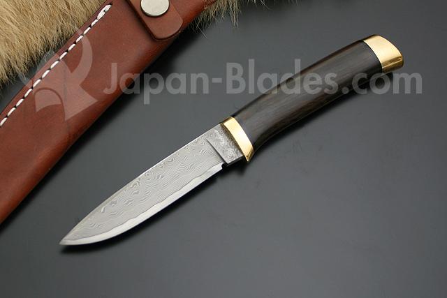 KD30-3718 Hattori Cowry X Damascus Utility Hunter