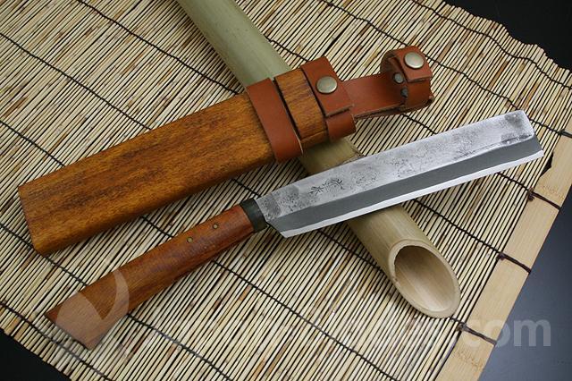 """SAJI-282 Takeshi Saji made """"Yuh-Yuh-Nata"""" / pearskin finish blade"""